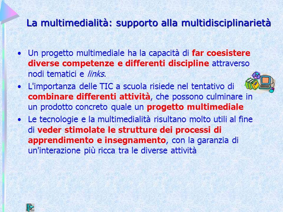 La multimedialità: supporto alla multidisciplinarietà