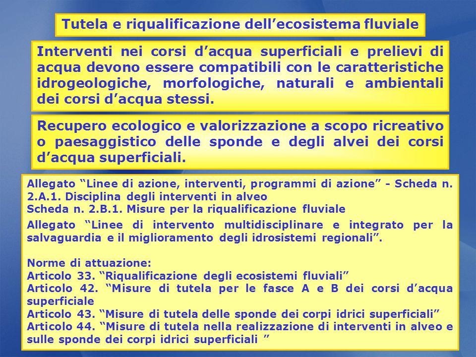 Tutela e riqualificazione dell'ecosistema fluviale