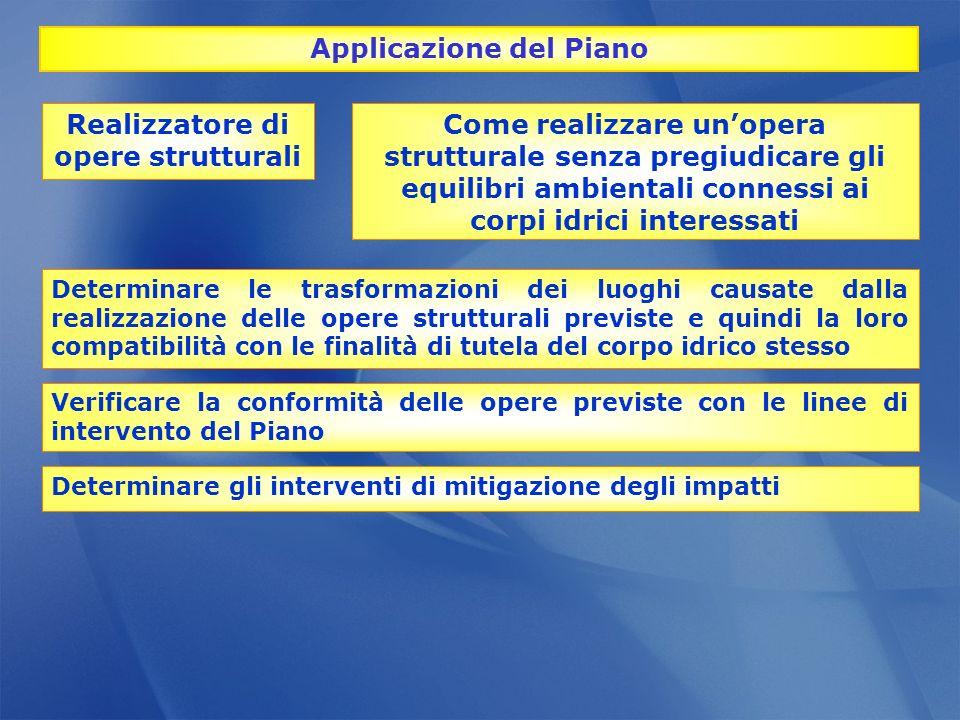 Applicazione del Piano Realizzatore di opere strutturali