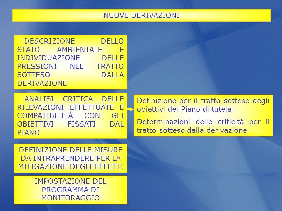 IMPOSTAZIONE DEL PROGRAMMA DI MONITORAGGIO