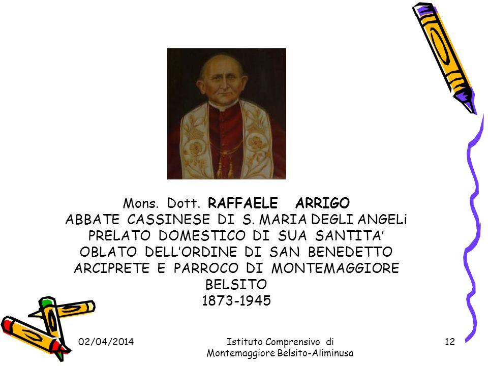 Mons. Dott. RAFFAELE ARRIGO