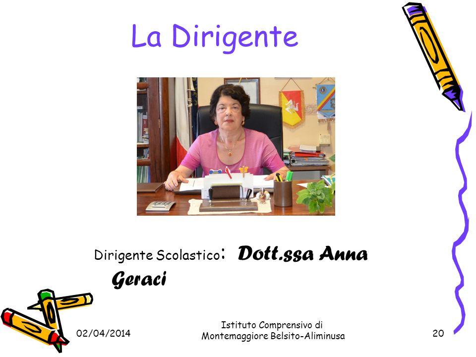 La Dirigente Dirigente Scolastico: Dott.ssa Anna Geraci