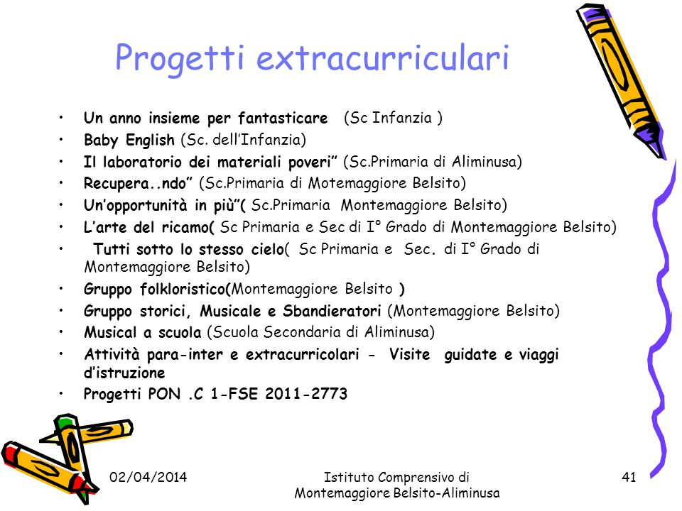 Progetti extracurriculari
