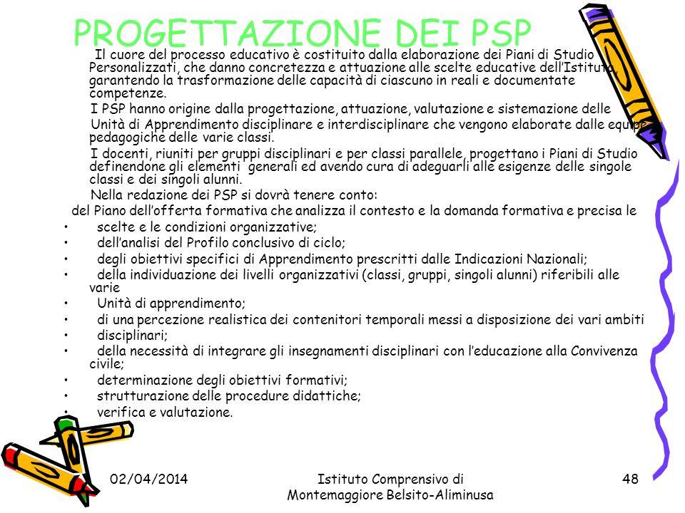 PROGETTAZIONE DEI PSP