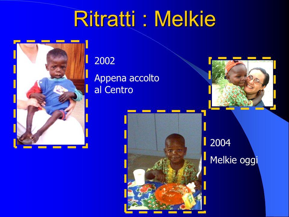 Ritratti : Melkie 2002 Appena accolto al Centro 2004 Melkie oggi