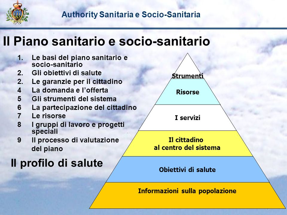 Il Piano sanitario e socio-sanitario