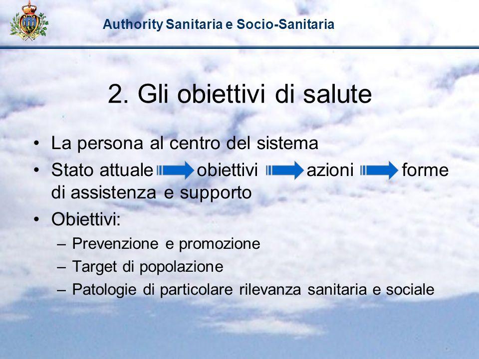 2. Gli obiettivi di salute