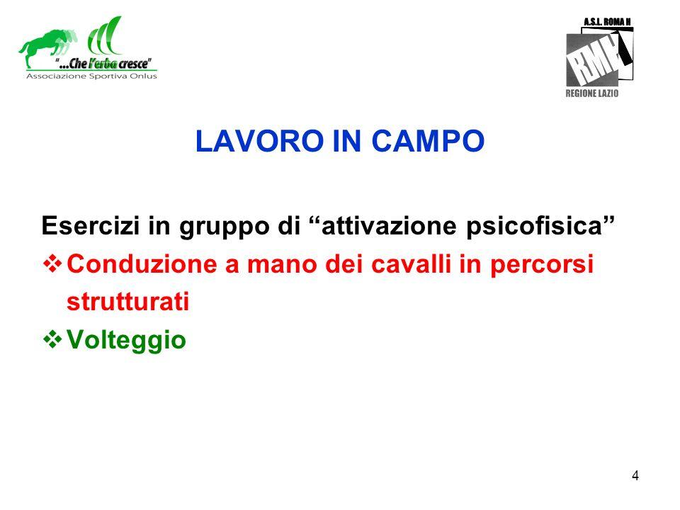 LAVORO IN CAMPO Esercizi in gruppo di attivazione psicofisica