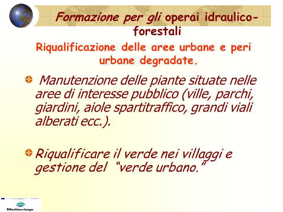 Formazione per gli operai idraulico-forestali