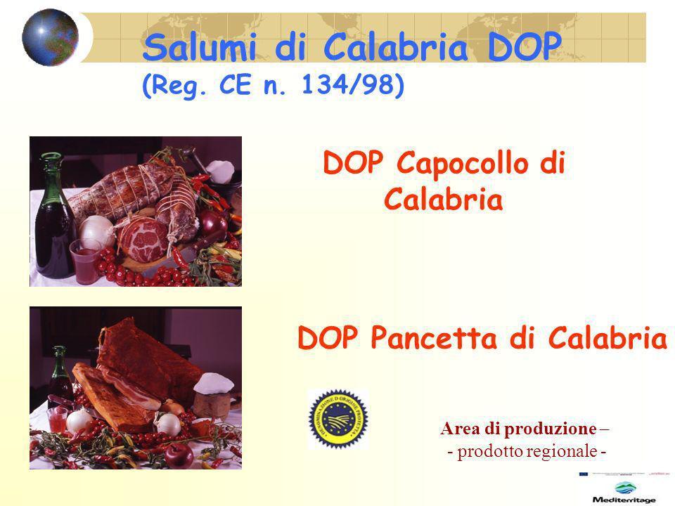 Salumi di Calabria DOP (Reg. CE n. 134/98)