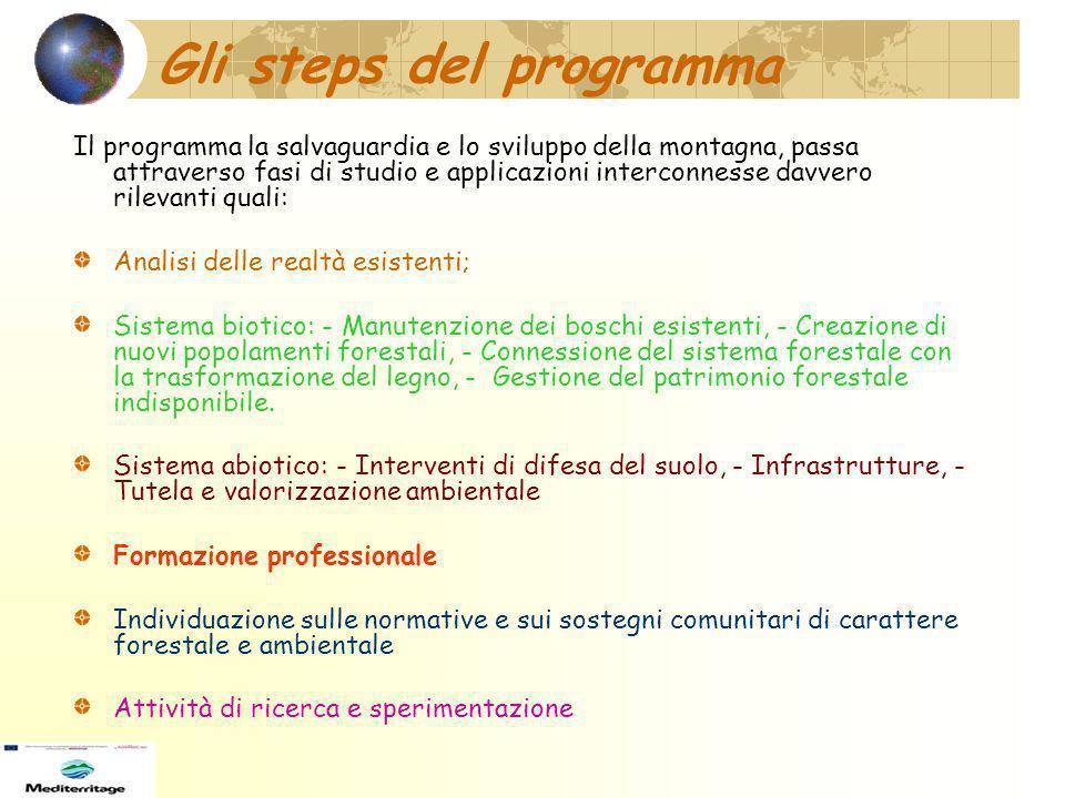 Gli steps del programma