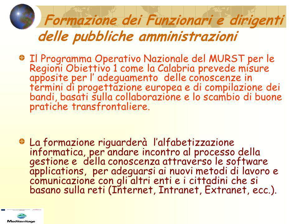 Formazione dei Funzionari e dirigenti delle pubbliche amministrazioni