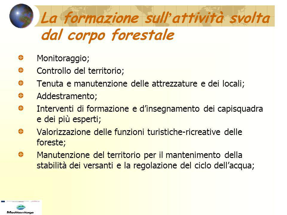 La formazione sull'attività svolta dal corpo forestale