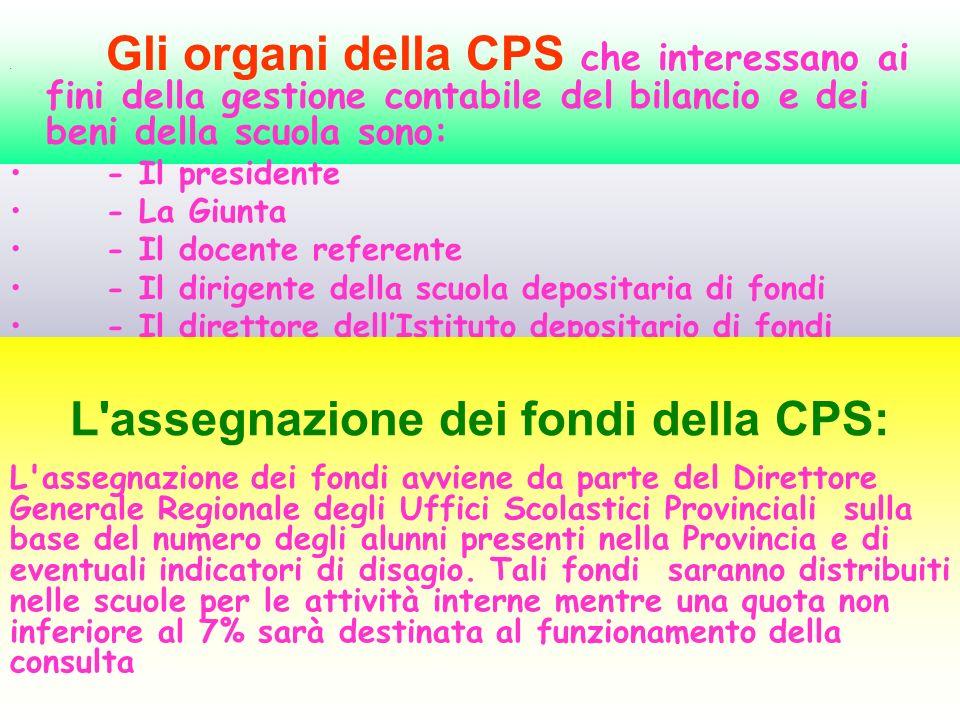 L assegnazione dei fondi della CPS: