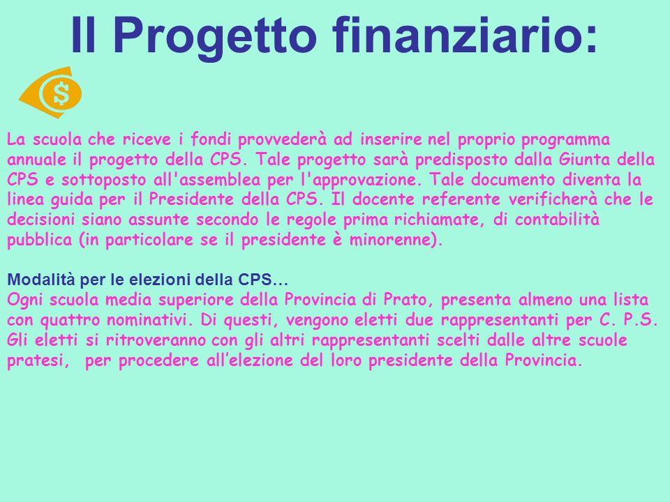 Il Progetto finanziario: