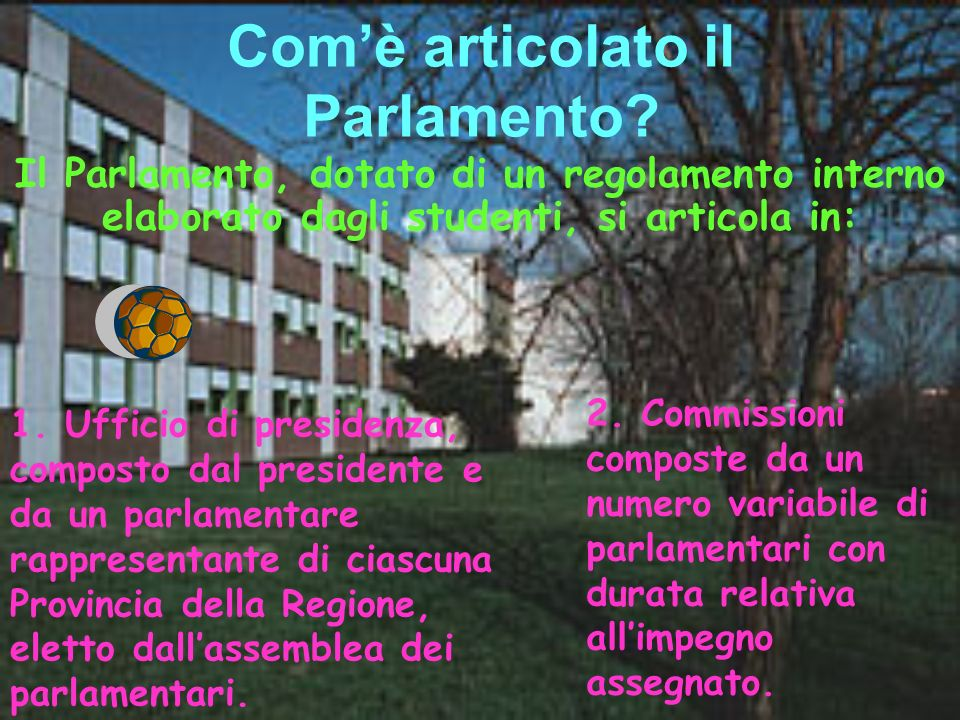 Com'è articolato il Parlamento