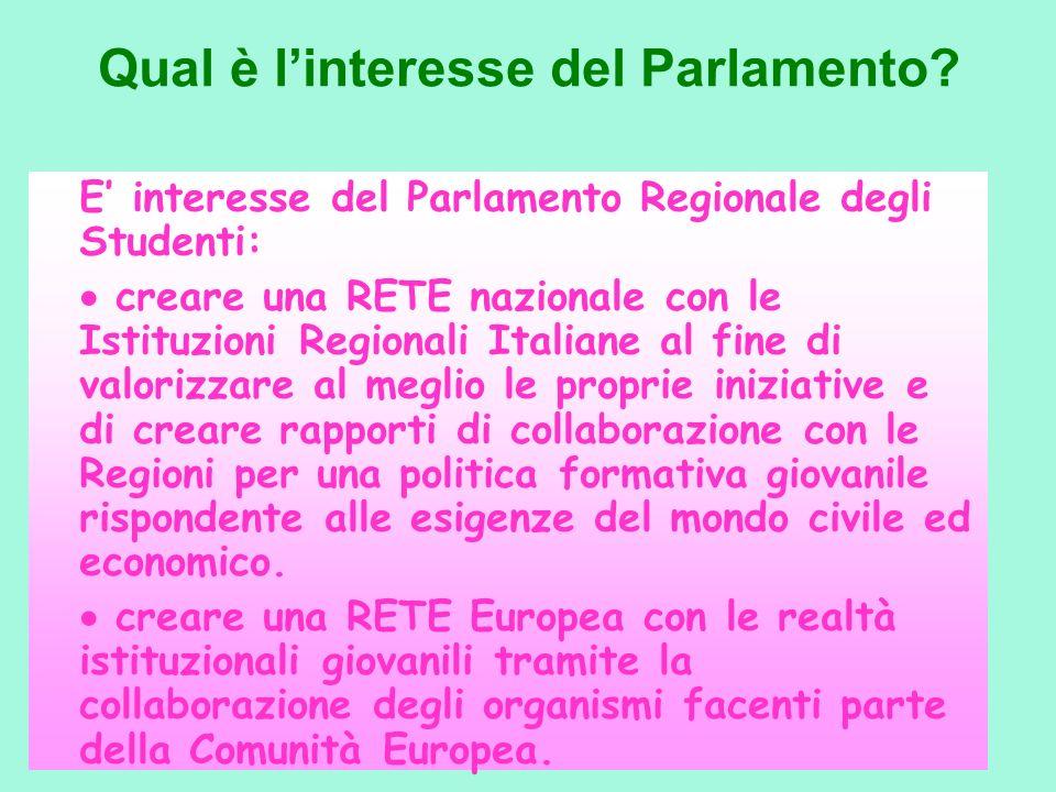 Qual è l'interesse del Parlamento
