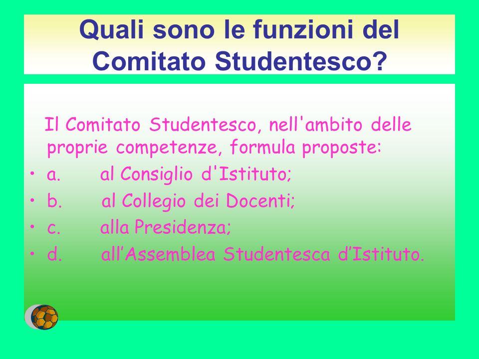 Quali sono le funzioni del Comitato Studentesco