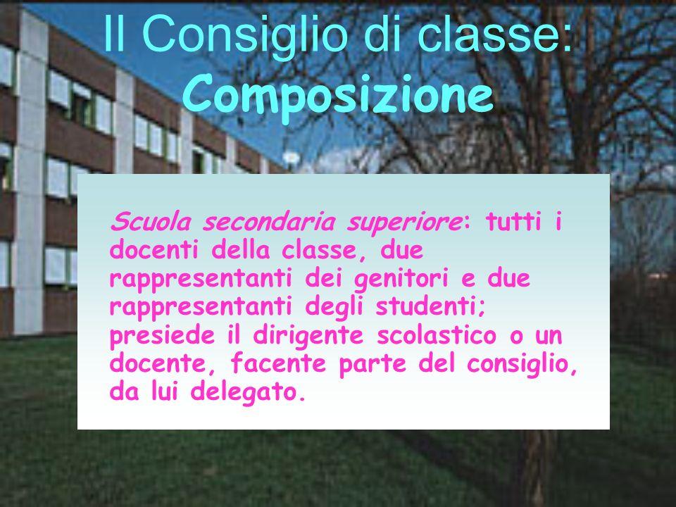 Il Consiglio di classe: Composizione