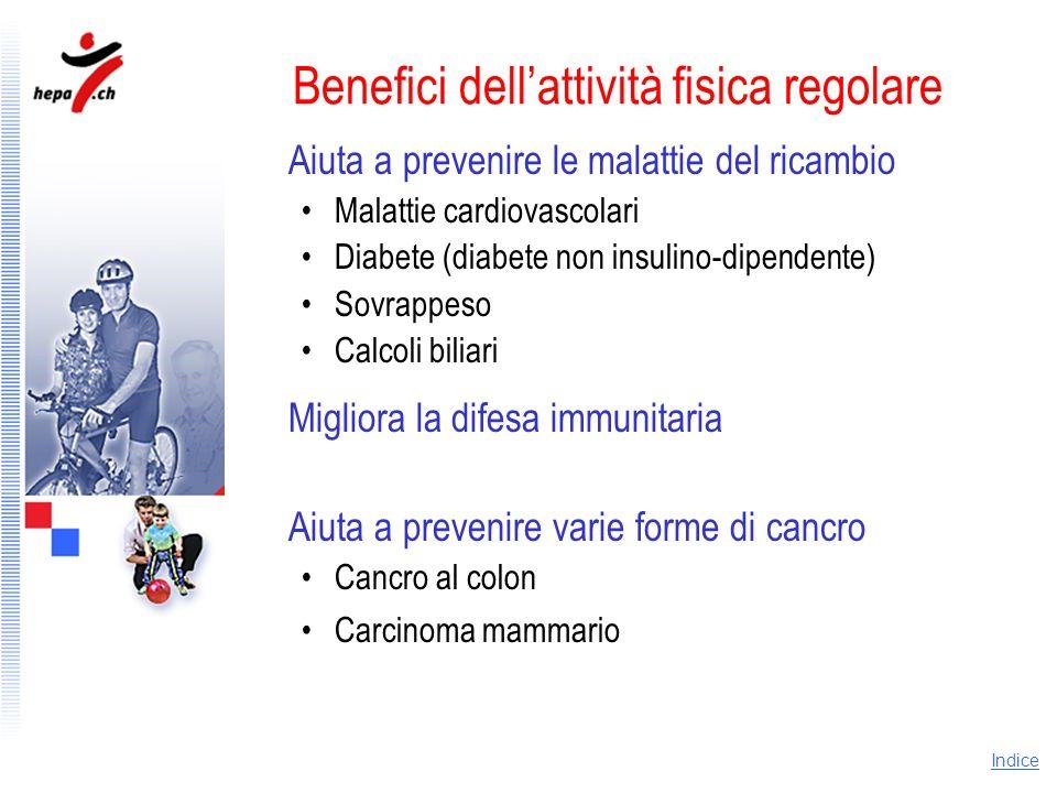 Benefici dell'attività fisica regolare