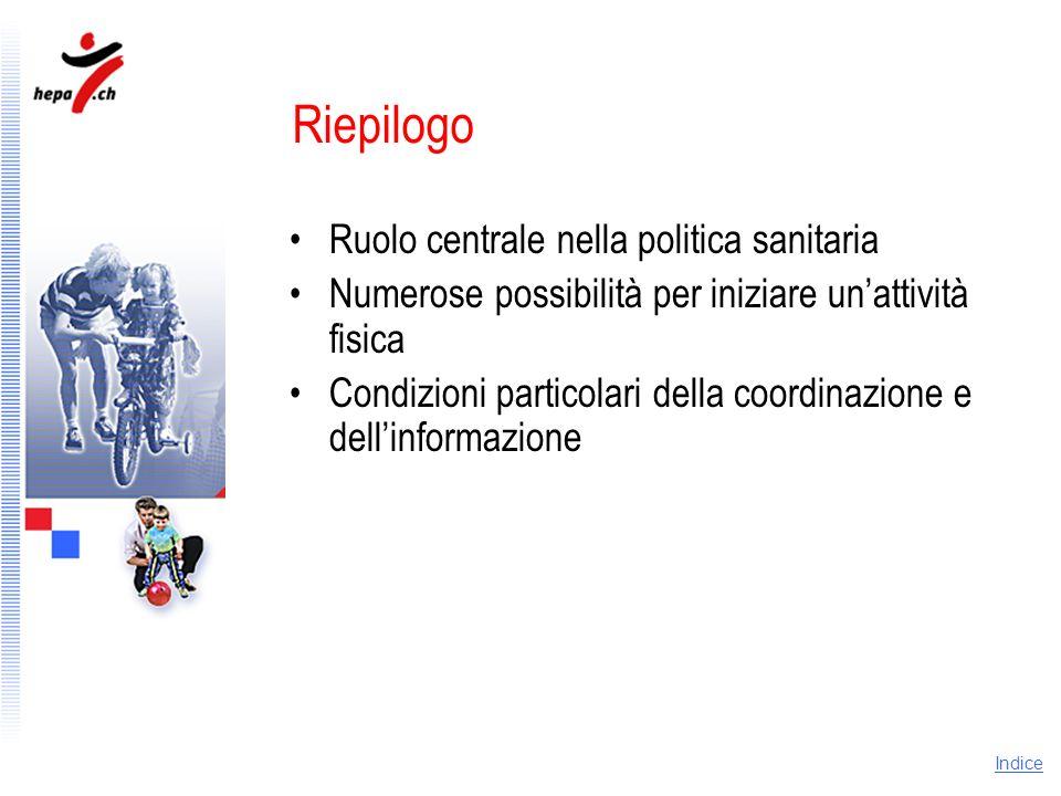 Riepilogo Ruolo centrale nella politica sanitaria