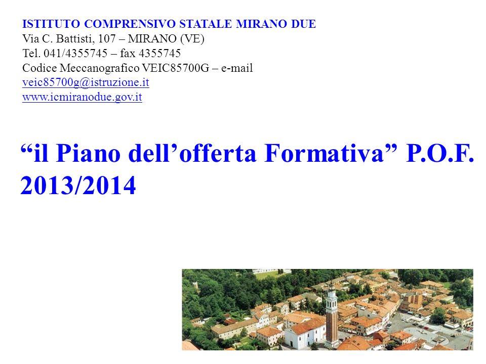 il Piano dell'offerta Formativa P.O.F. 2013/2014