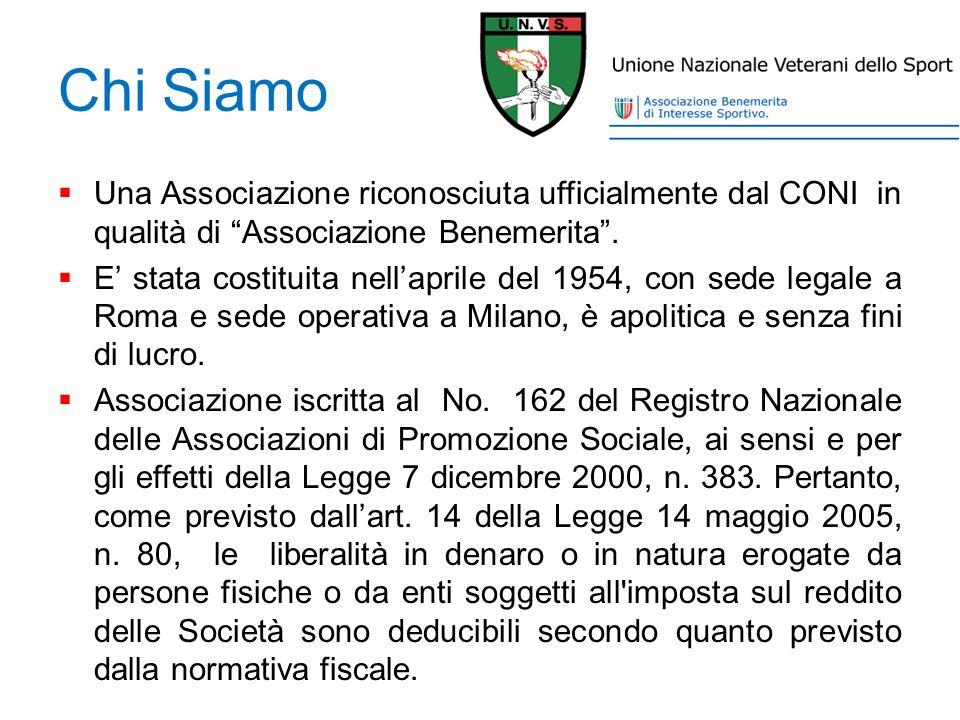 Chi Siamo Una Associazione riconosciuta ufficialmente dal CONI in qualità di Associazione Benemerita .