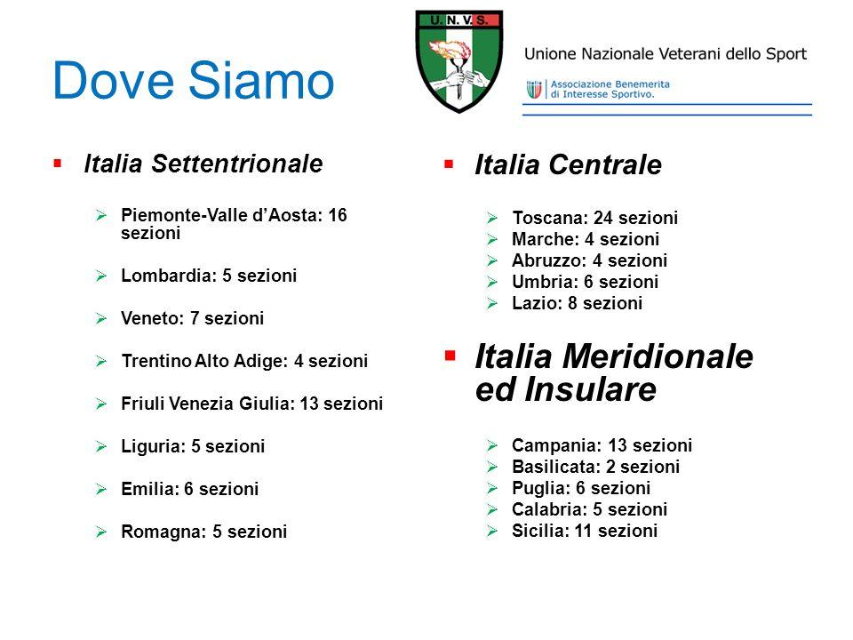 Dove Siamo Italia Meridionale ed Insulare Italia Centrale