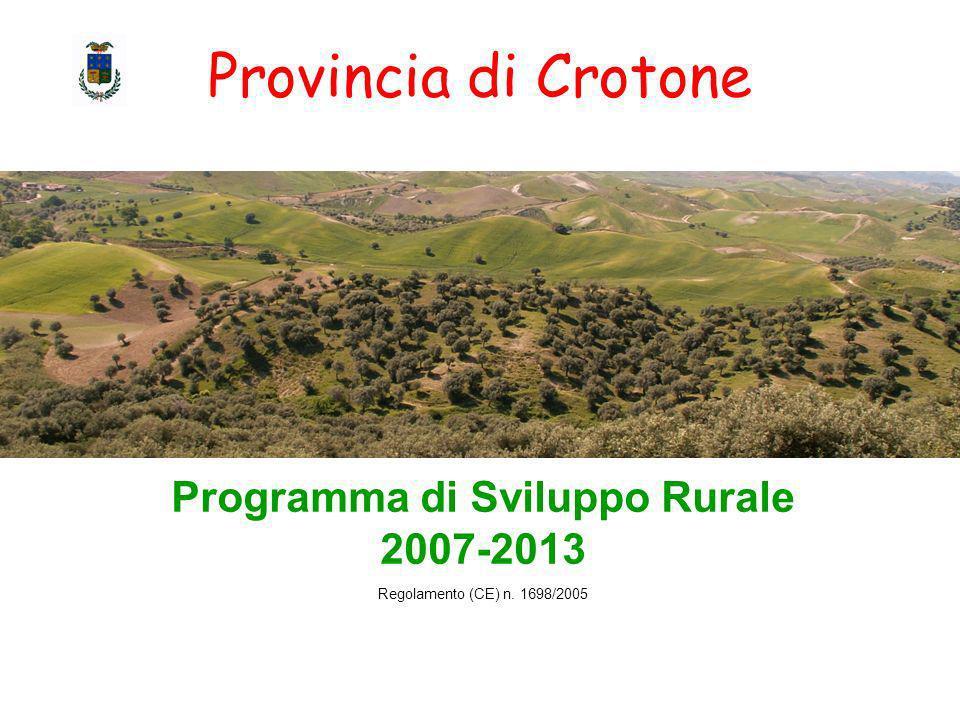 Programma di Sviluppo Rurale 2007-2013 Regolamento (CE) n. 1698/2005