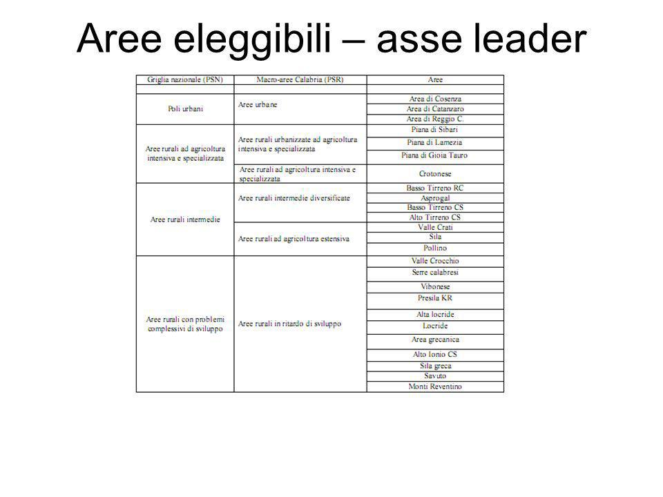 Aree eleggibili – asse leader