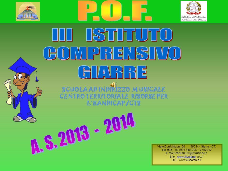 P.O.F. III ISTITUTO COMPRENSIVO GIARRE A. S. 2013 - 2014