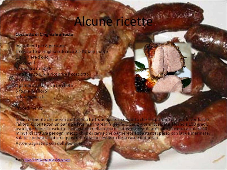 Alcune ricette Cosciotto di Cinghiale arrosto