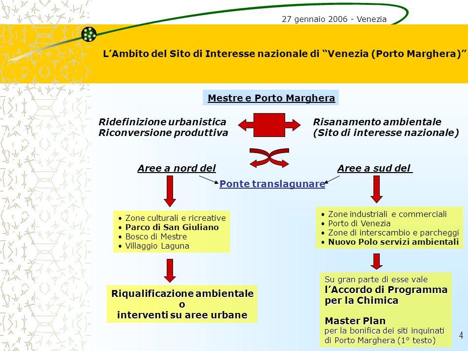 L'Ambito del Sito di Interesse nazionale di Venezia (Porto Marghera)