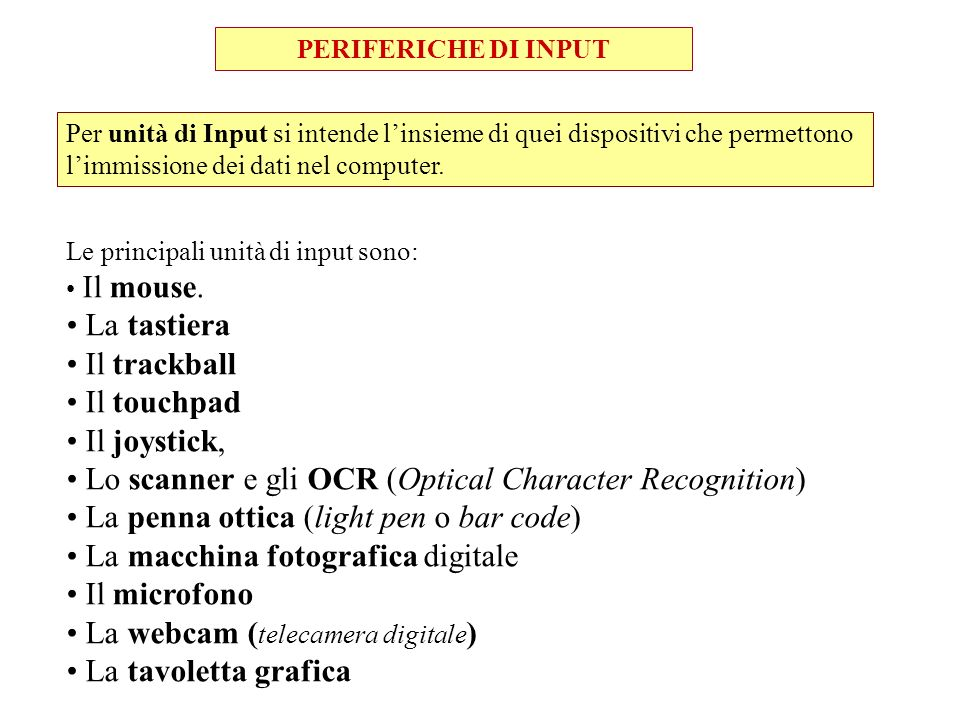 Lo scanner e gli OCR (Optical Character Recognition)