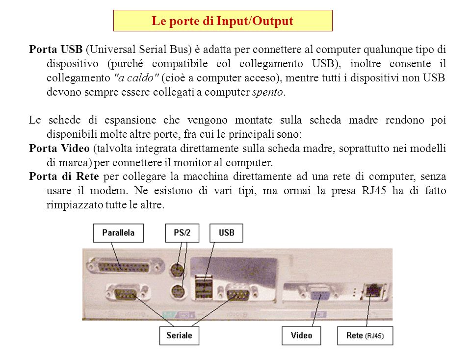 Le porte di Input/Output