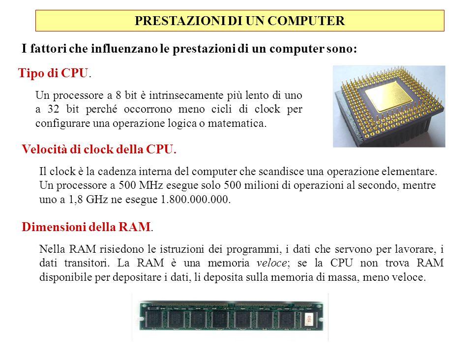 PRESTAZIONI DI UN COMPUTER