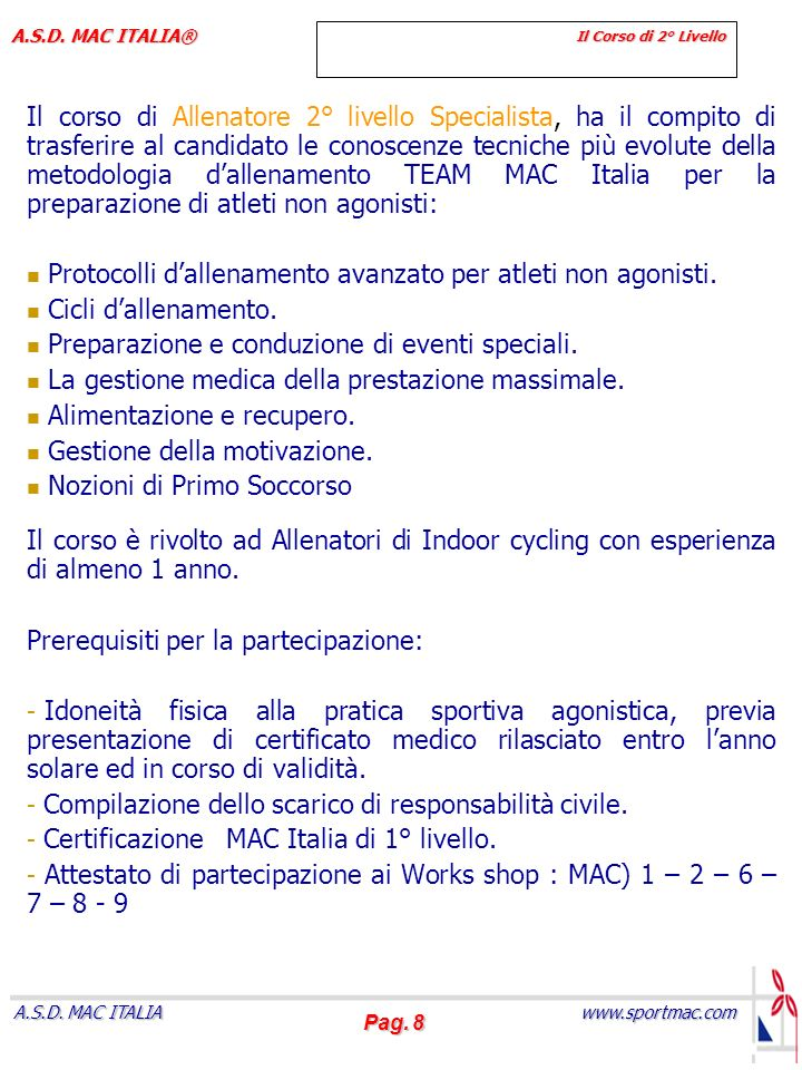 Protocolli d'allenamento avanzato per atleti non agonisti.