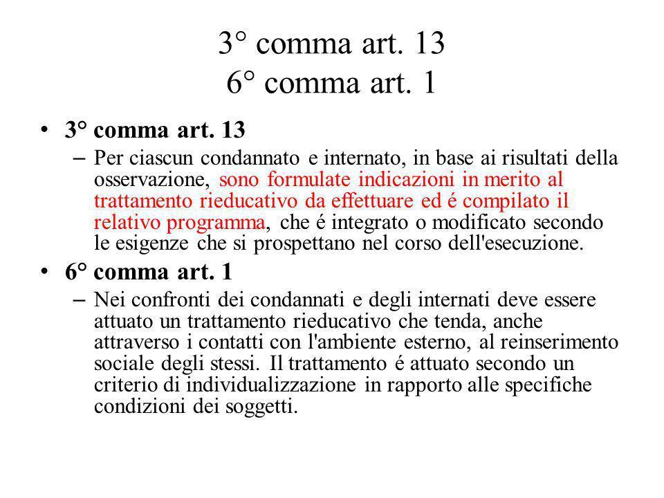3° comma art. 13 6° comma art. 1 3° comma art. 13 6° comma art. 1