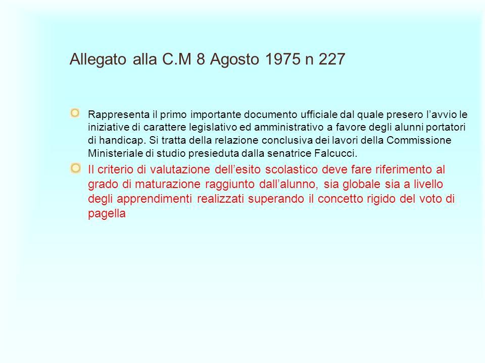 Allegato alla C.M 8 Agosto 1975 n 227