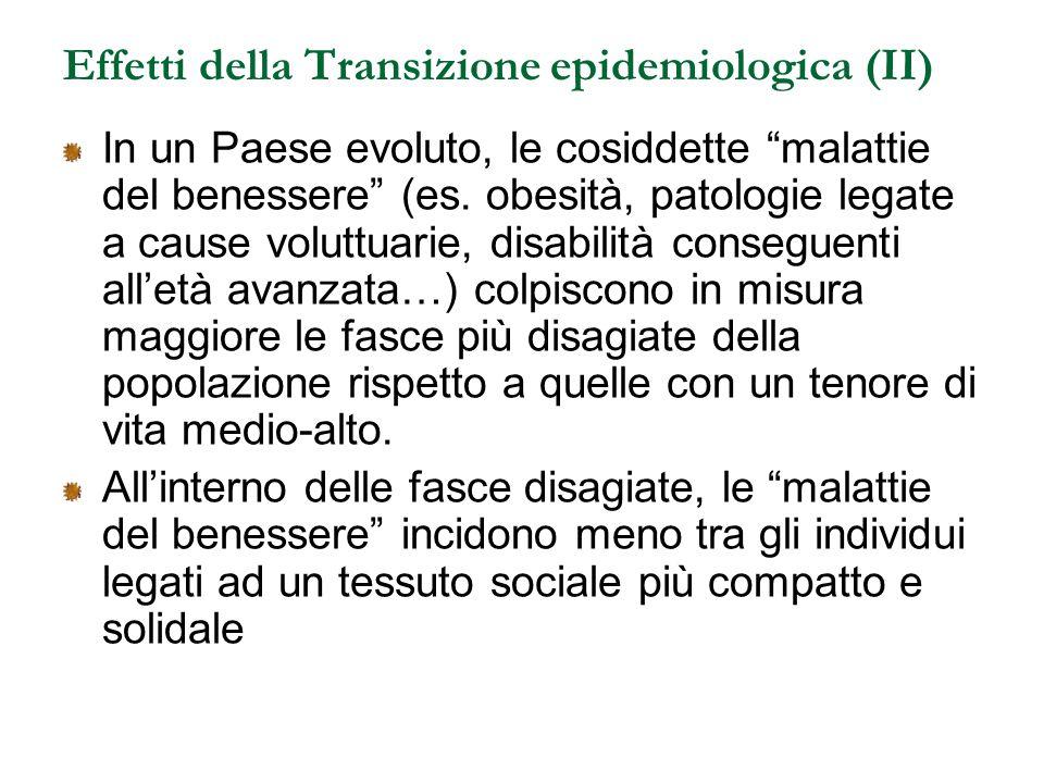 Effetti della Transizione epidemiologica (II)