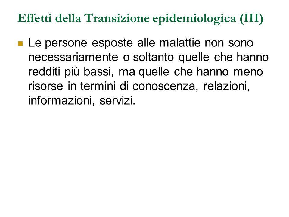 Effetti della Transizione epidemiologica (III)