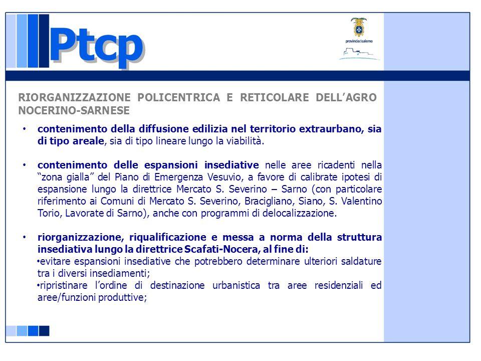 RIORGANIZZAZIONE POLICENTRICA E RETICOLARE DELL'AGRO NOCERINO-SARNESE
