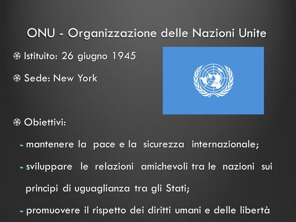 ONU - Organizzazione delle Nazioni Unite