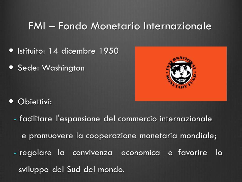 FMI – Fondo Monetario Internazionale