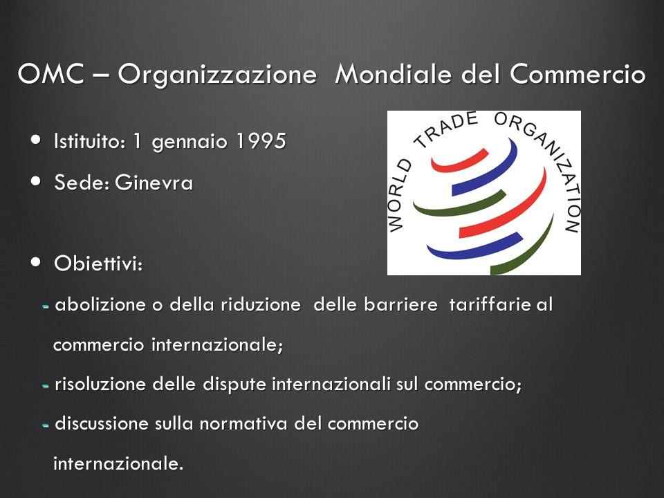 OMC – Organizzazione Mondiale del Commercio
