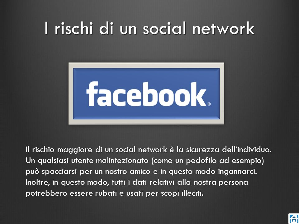 I rischi di un social network