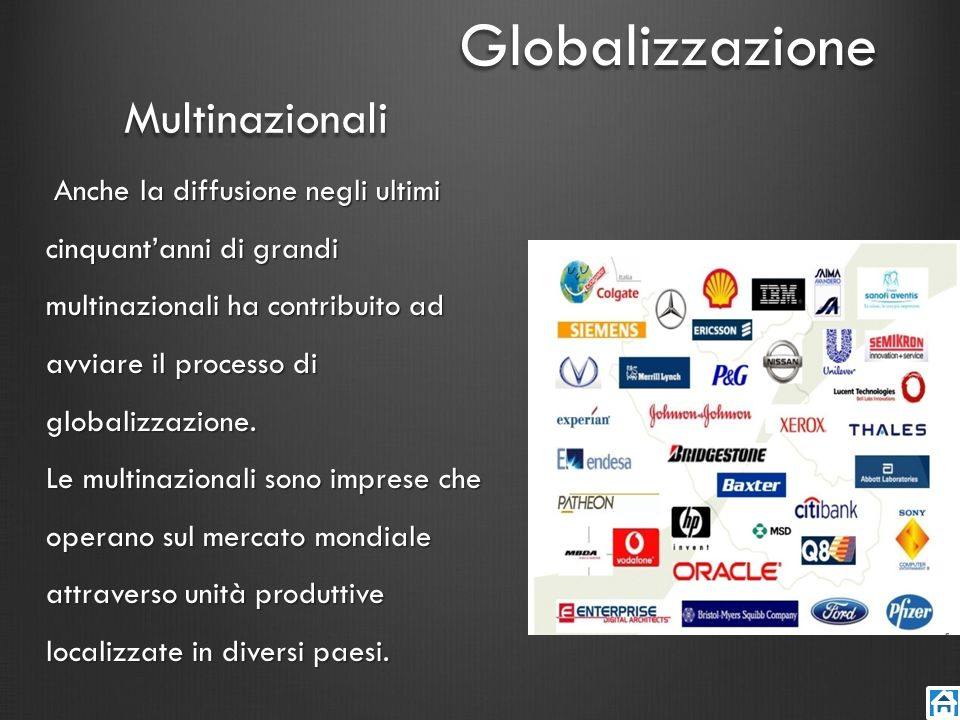 Globalizzazione Multinazionali