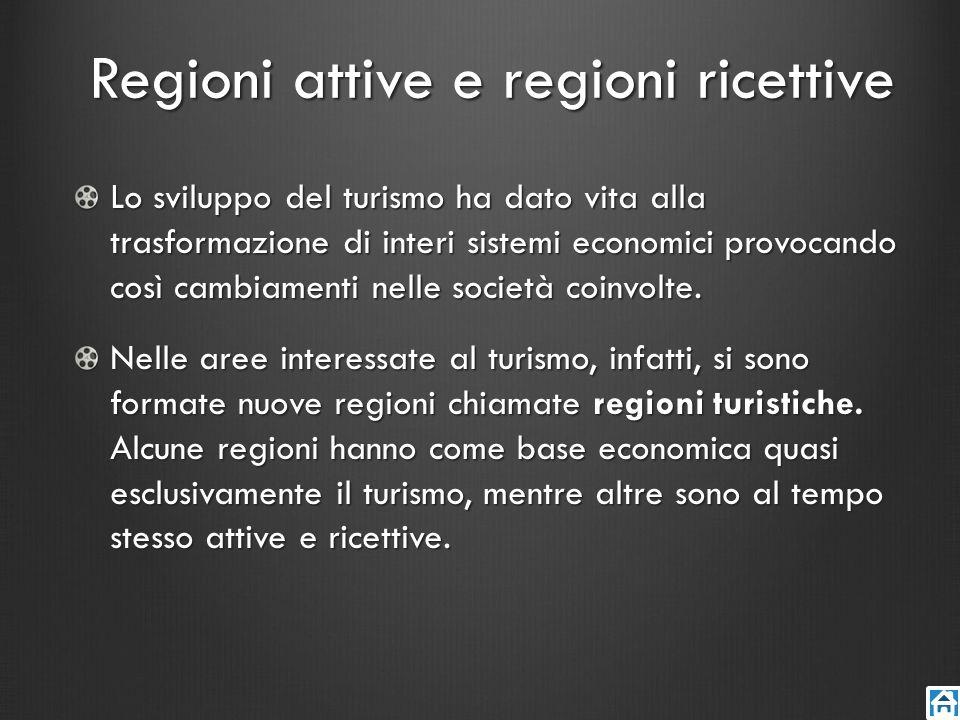 Regioni attive e regioni ricettive