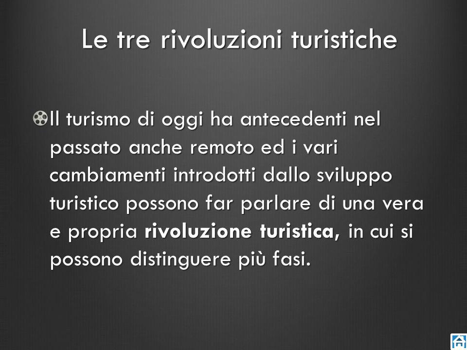 Le tre rivoluzioni turistiche
