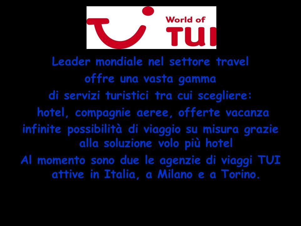 Leader mondiale nel settore travel offre una vasta gamma
